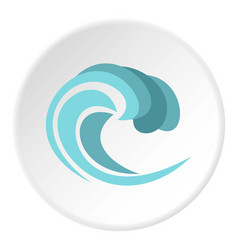 Round wave icon circle vector