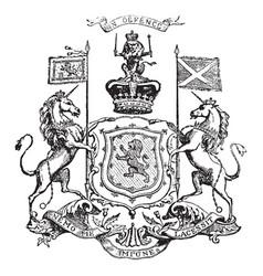 Royal arms of scotland vintage vector
