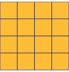 Royal blue grid square yellow background vector