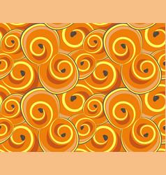 Seamless pattern all saffron buns vector
