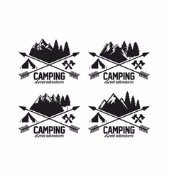 set of logos for the camp vector image vector image