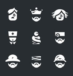 Set of nuthouse icons vector