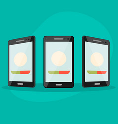 set phone at different angles vector image vector image