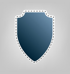 Shield sign blue icon with vector