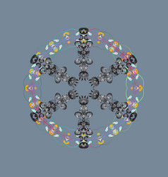 Snowflake snowflake isolated on colorful vector