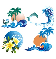 summer ddesign elements vector image vector image