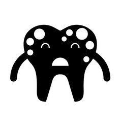 tooth with spots character icon vector image