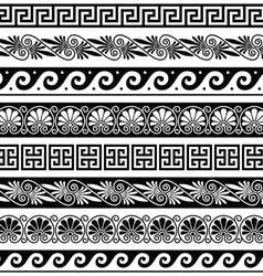 Ancient greek pattern - seamless set vector