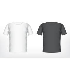Mens white and black t-shirt vector