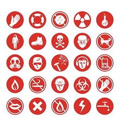 Work protection various icons vector