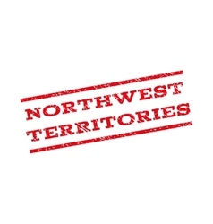 Northwest territories watermark stamp vector