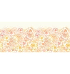Warm flowers horizontal seamless pattern vector