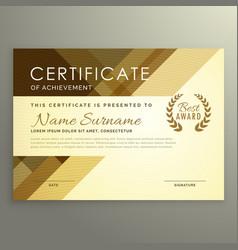 Modern certificate design in premium style vector