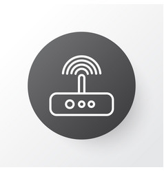 Modem icon symbol premium quality isolated switch vector
