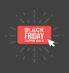 black friday sale commerce design mouse click vector image