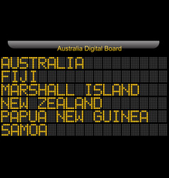 Australia country digital board information vector