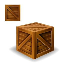 Wood box vector
