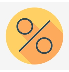 Flat style icon percent symbol vector