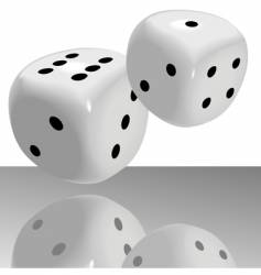 Big fat pair of dice vector