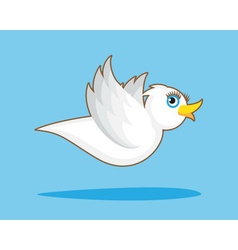 Bird with horn vector