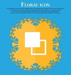 Active color toolbar floral flat design on a blue vector