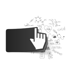 Drawing medical formulas hand vector