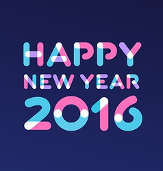 Happy new year 2016 greeting card design vector