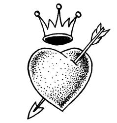 Heart Old School vector image