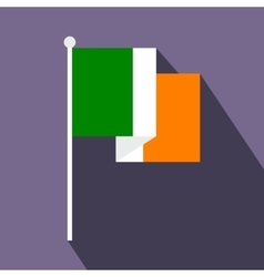 Flag of ireland flat icon vector