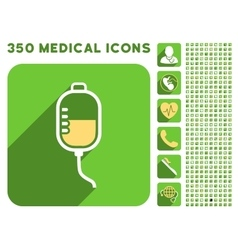 Therapy dropper icon and medical longshadow icon vector