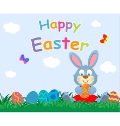 Flat easter holiday modern style design vector