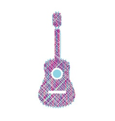 Guitar scribbled vector