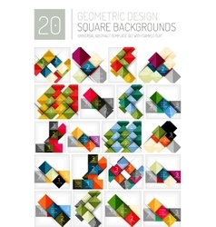 Set of square shape abstract backgrounds vector