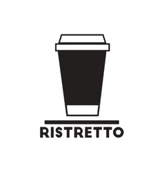 Black icon on white background ristretto to vector