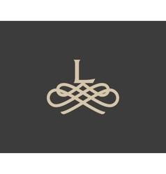 Abstract monogram elegant flower logo icon design vector