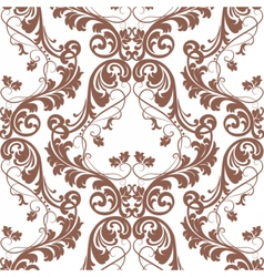 Baroque pattern with damask ornament vector