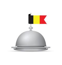 Belgium flag dinner platter vector
