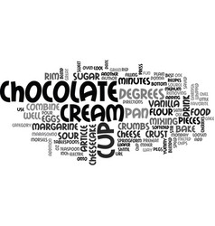 Best recipes chocolate chip cheesecake text word vector