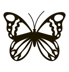 Black butterfly icon simple style vector