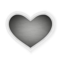 Black heart shape frame EPS 10 vector image vector image