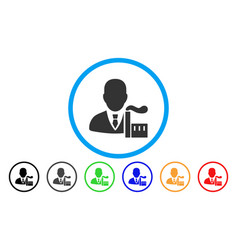 Capitalist oligarch rounded icon vector