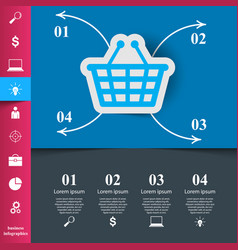 cart buy shop icon origami cut paper vector image vector image