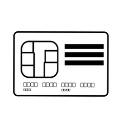 Credit card global bank line vector