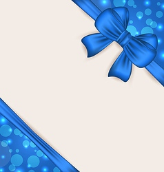 Cute blue wrapping with ribbon bow vector image vector image