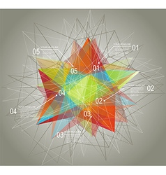 Diagram and time line design with glass geometric vector