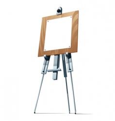 easel vector image