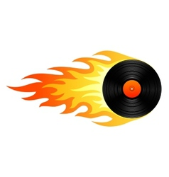 Flaming vinyl vector