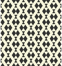 Geometric monochrome pattern vector image vector image