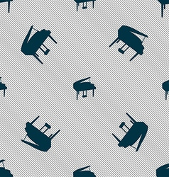 Grand piano icon sign seamless pattern with vector