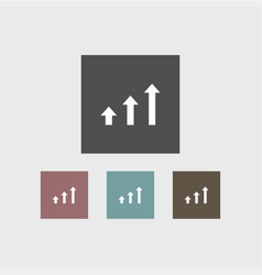 growing icon simple human vector image